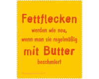 Brillenputztuch Fettflecken