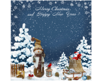 Microfasertuch Merry Christmas and Happy New Year von La...