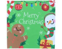 Microfasertuch Merry Christmas in 20x20cm |...